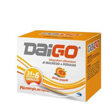 DAIGO MAGNESIO POTASSIO 24+6 BUSTINE OMAGGIO ARANCIA 240G