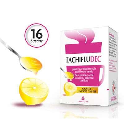Tachifludec 16 bustine limone e miele