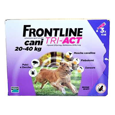 FRONTLINE TRI-ACT 20-40KG 3PIPETTE