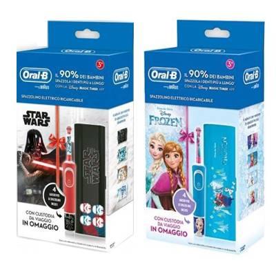 OralB spazzolino elettrico Go electric Frozen e Star Wars