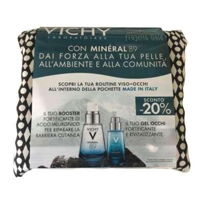 Vichy booster mineral 89 + gel occhi in regalo pochette
