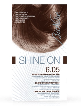 BIONIKE SHINE ON TRATTAMENTO COLORANTE CAPELLI BIONDO SCURO CIOCCOLATO 6.05