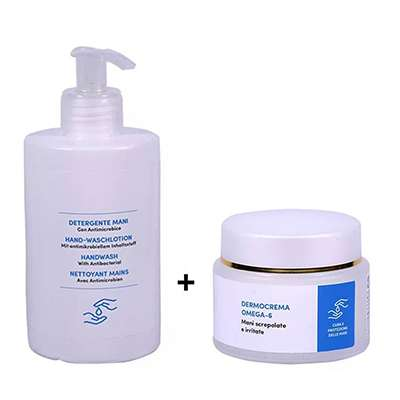 Detergente mani + Dermocrema farmacisti preparatori