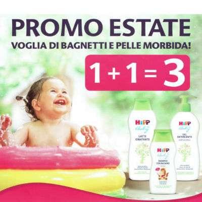 HIPP BABY promo estate 1+1=3