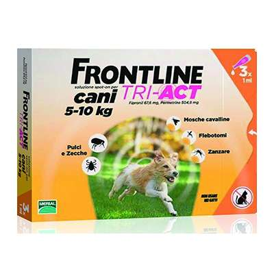 FRONTLINE TRI-ACT 5-10KG 3PIPETTE