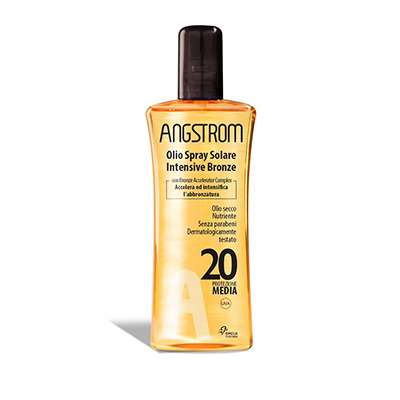 ANGSTROM  OLIO SPRAY SOLARE INTENSIVE BRONZE SPF20 CORPO 150ML
