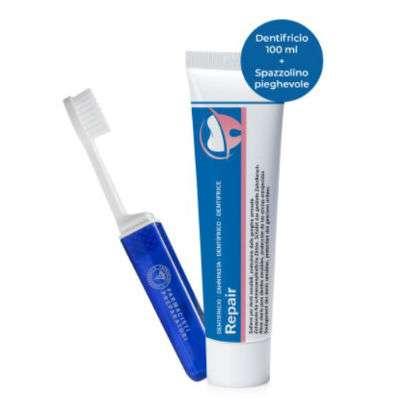 Repair dentifricio 100ml+spazzolino da viaggio omaggio