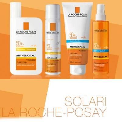 La Roche Posay solari Linea Anthelios pelli sensibili