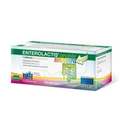 Enterolactis bambini 12 flaconcini con OMAGGIO per Bimbi
