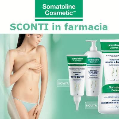 Somatoline sconti del 30% sulla linea viso e corpo