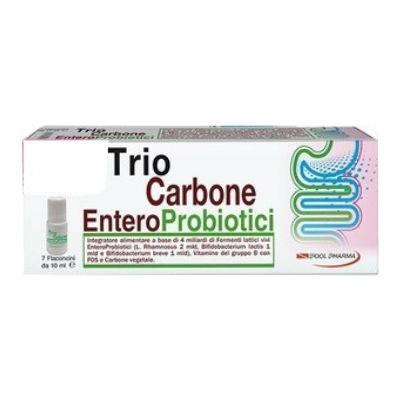 Trio Carbone entero probiotici 7fl 1+1