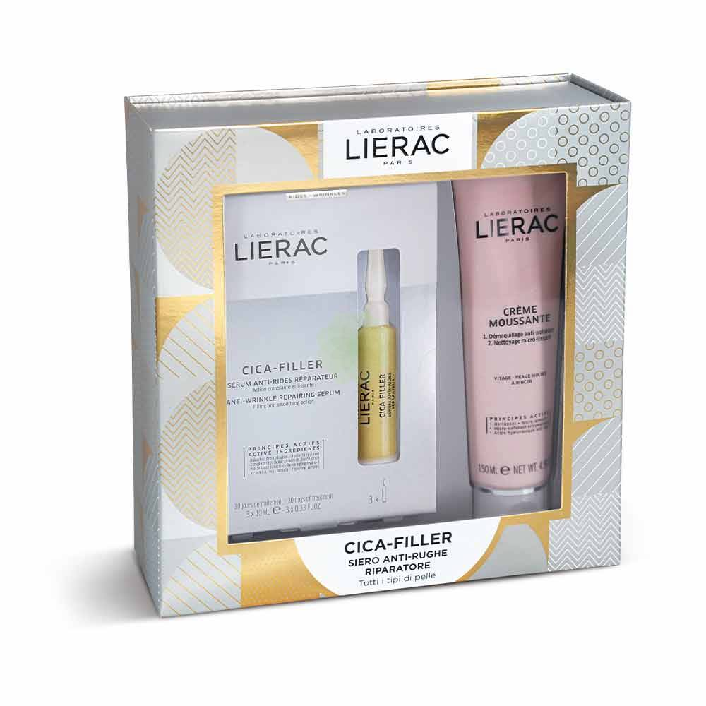 LIERAC COFANETTO CICA-FILLER SIERO ANTI-RUGHE RIPARATORE 30 ML + MOUSSE STRUCCANTE 150ML