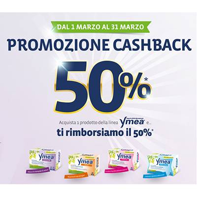 Ymea 50% cashback (dal 1 al 31 marzo)