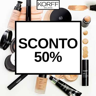 KORFF MAKE UP SCONTO 50%