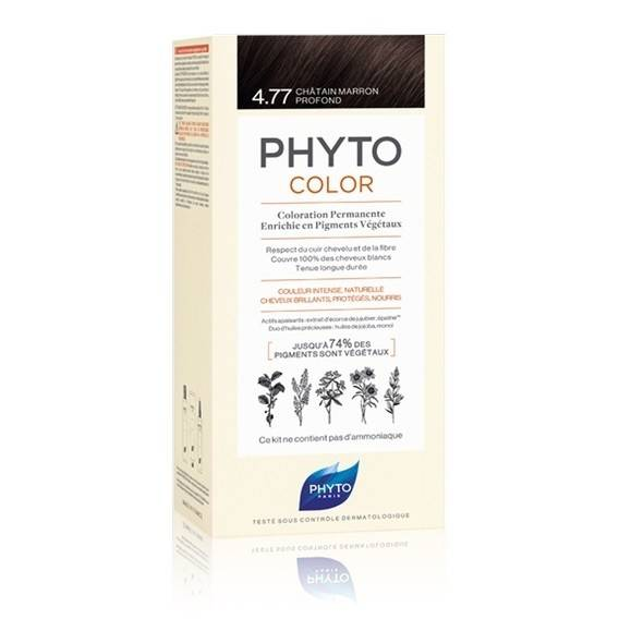 PHYTO PHYTOCOLOR COLORAZIONE PERMANENTE CAPELLI 4,77 CASTANO MARRONE INTENSO