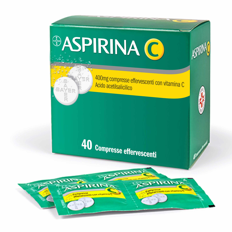 ASPIRINA C*40CPR EFF 400+240MG