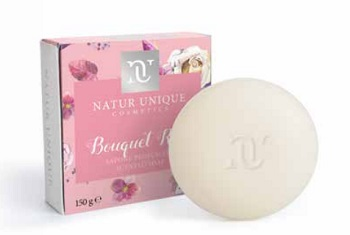 NATUR UNIQUE SAPONETTA BOUQUET ROSE 150G
