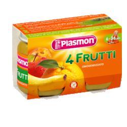 PLASMON OMOG 4 FRUTTI 2X104G