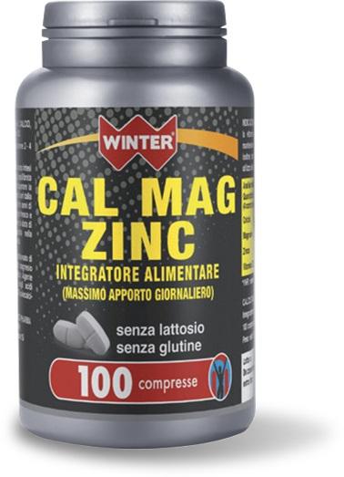 CALCIO MAGNESIO ZINCO INTEGRATORE SALI 100 CPR WINTER