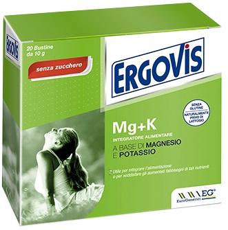 ERGOVIS MAGNESIO+POTASSIO SENZA ZUCCHERO 20 BUSTE 5G