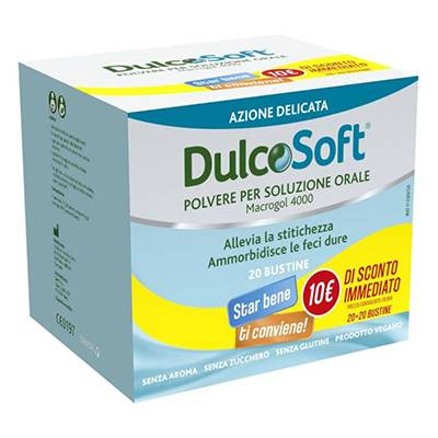 Dulcosoft 20bst+20bst 10€ di SCONTO IMMEDIATO