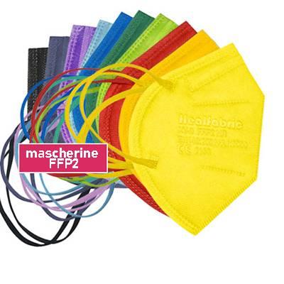 Mascherina FFP2 colorata certificata CE