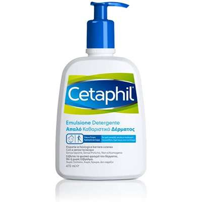 Cetaphil pelle secca emulsione det. viso e corpo 470ml