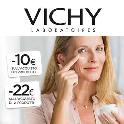 VICHY sconto €10 acquistando 1 prodotto, €22 per 2 prodotti