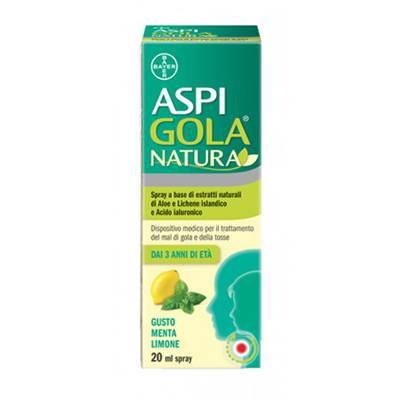 Aspi Gola Natura spray menta/limone 20ml