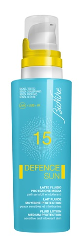 BIONIKE DEFENCE SUN LATTE FLUID PROTEZIONE MEDIA SPF15 125ML