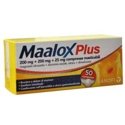 Maalox plus cpr 50 cpr