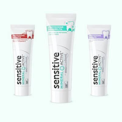 Mentadent dentifricio Sensitive Mineral Active sconto 10%