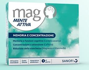 MAG MENTE ATTIVA INTEGRATORE MEMORIA E CONCENTRAZIONE 20 BUSTE
