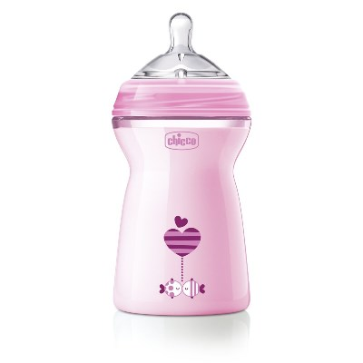 CH BIB NAT-FEEL 6M+ GIRL 330ML