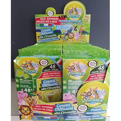 Puppies 48 cerotti diffusori alla citronella protettivi