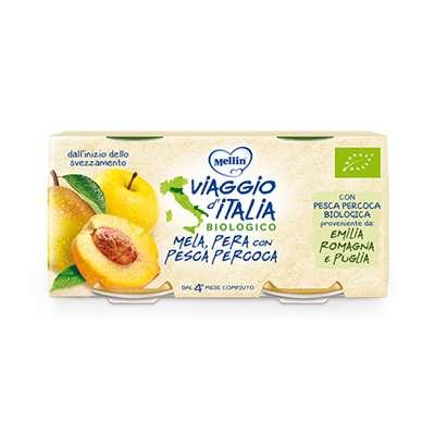 Viaggio d'Italia omogeneizzati frutta pera / pesca
