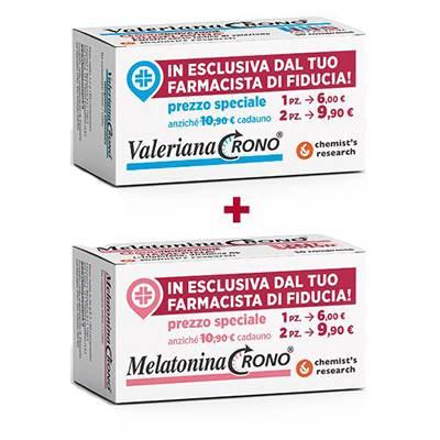 VALERIANA CRONO + MELATONINA CRONO 2PEZZI