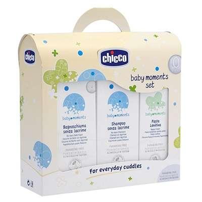 Chicco cofanetto: shampoo + bagno schiuma + pasta lenitiva
