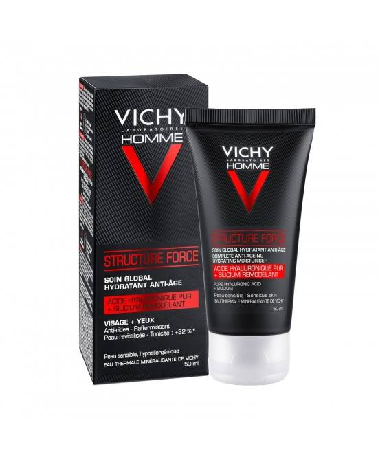 VICHY HOMME STRUCTURE FORCE ANTI-AGING HYDRATING PELLE SENSIBILE 50ML