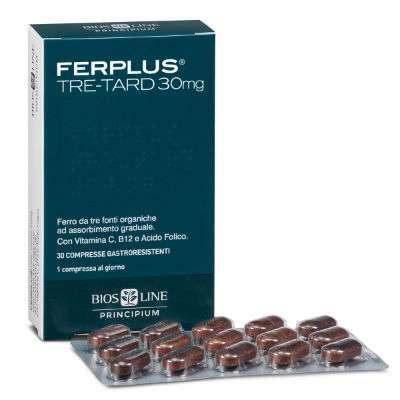 BIOSLINE Ferplus 3-tard 30 compresse gastroresistenti