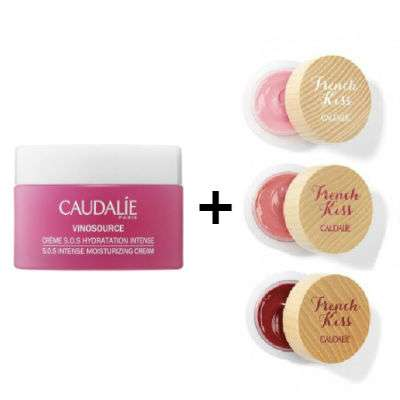 CAUDALIE VINOSOURCE CR SOS 50ML, IN OMAGGO FRENCH KISS