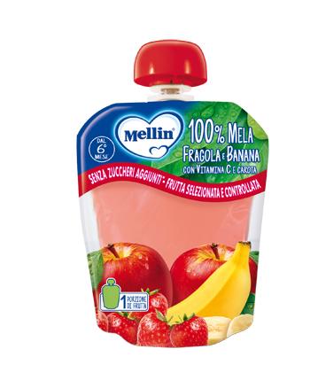 MELLIN 100% MELA FRAGOLA BANAN