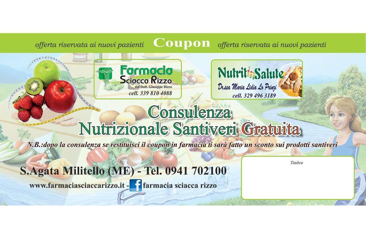 SCONTO in farmacia su acquisti prodotti Santiveri dopo consulenza nutrizionale Santiveri GRATUITA presso lo studio della nutrizionista e dietista Santiveri